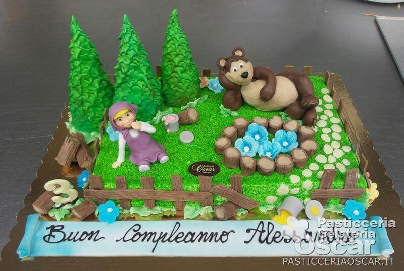 Co2 10 037 Torta Masha E Orso Compleanno Oscar